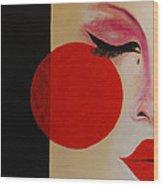 Geisha Tear Wood Print