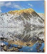 Geissler Mountain In Linkins Lake Wood Print