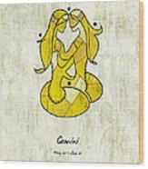 Gemini Artwork Wood Print