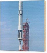 Gemini Vi Lifts Off From Its Launch Pad Wood Print