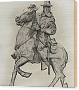 General James Longstreet Statue At Gettysburg  Wood Print by Randy Steele