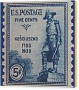 General Kosciuszko Postage Stamp Wood Print