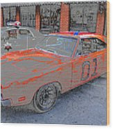 General Lee One Wood Print