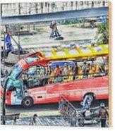 Genoa Sightseeing City Bus Wood Print