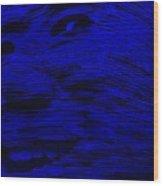 Gentle Giant In Blue Wood Print