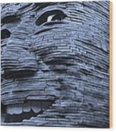 Gentle Giant In Cyan Wood Print