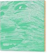 Gentle Giant In Negative Green Wood Print