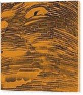 Gentle Giant In Negative Orange Wood Print