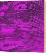 Gentle Giant In Negative Purple Wood Print