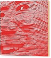 Gentle Giant In Negative Red Wood Print