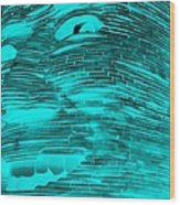 Gentle Giant In Negative Turquois Wood Print