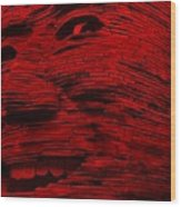 Gentle Giant In Red Wood Print