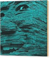 Gentle Giant In Turquois Wood Print