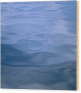 Gently Rippled Blue Water Wood Print