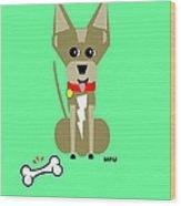 Geo Chihuahua Wood Print