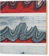 Geologic Crumpling Wood Print