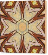 Geometric Stained Glass Abstract Wood Print