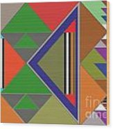 Geometric Wood Print
