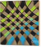 Geometrical Colors And Shapes 1 Wood Print
