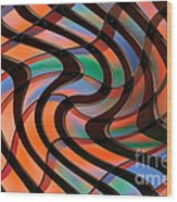 Geometrical Colors And Shapes 2 Wood Print