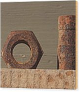 Geometry In Rust Wood Print