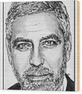 George Clooney In 2009 Wood Print
