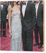 George Clooney, Sarah Larson Wearing Wood Print