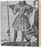 George Cumberland (1558-1605). George De Clifford Cumberland. 3rd Earl Of Cumberland. English Naval Commander And Courtier. Line Engraving, English, Early 19th Century Wood Print