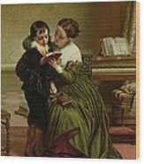 George Herbert And His Mother Wood Print