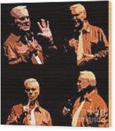 George Jones Concert Collage Wood Print