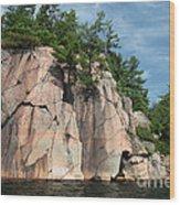 George Lake Wood Print