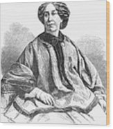 George Sand, French Author And Feminist Wood Print