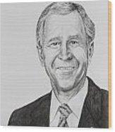 George W. Bush Wood Print by Daniel Young
