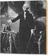 George Washington, 1st American Wood Print by Omikron