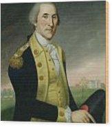 George Washington At Princeton Wood Print