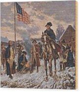 George Washington At Valley Forge Wood Print