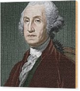 George Washington, First Us President Wood Print