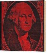 George Washington In Red Wood Print