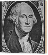 George Washington In White Wood Print