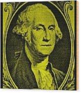 George Washington In Yellow Wood Print