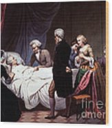 George Washington On His Death Bed Wood Print