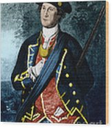 George Washington, Virginia Colonel Wood Print by Photo Researchers, Inc.