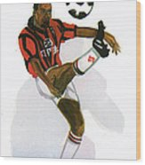 George Weah In Action Wood Print