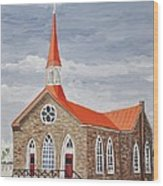 Georgetown Presbyterian Church Wood Print by Reb Frost