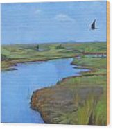 Georgia Marsh Wood Print