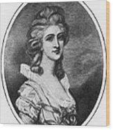 Georgiana Shipley (1752-1806) Wood Print