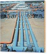 Geothermal Power Plant Wood Print