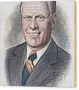 Gerald Ford (1913-2006) Wood Print