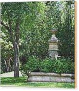 Geranium Garden Wood Print