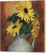 Gerber Yellow Daisies Wood Print
